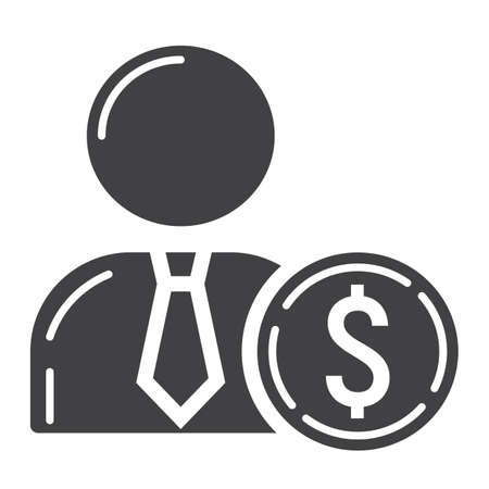 investor: Investor glyph icon, business and finance, businessman sign graphics.