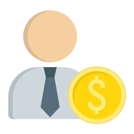 investor: Investor flat icon, business and finance, businessman sign graphics. Illustration