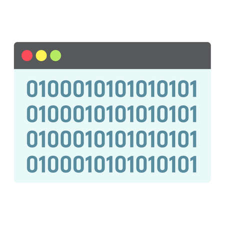 Custom coding flat icon, seo and development, browser programming sign vector graphics.