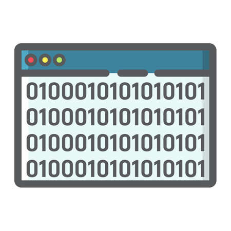 Custom coding filled outline icon, seo and development, browser programming sign vector graphics. Ilustração