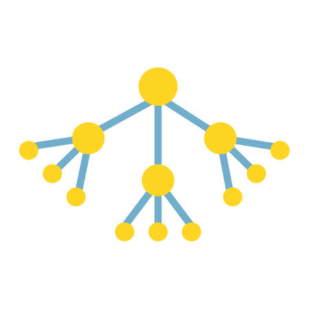 multi level: Viral Marketing flat icon, seo and development, group sign vector graphics, a colorful solid pattern on a white background, eps 10.