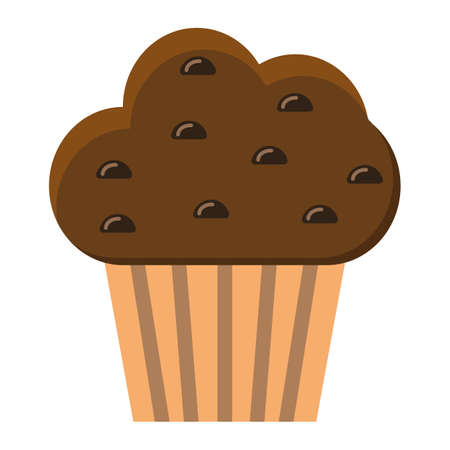 Muffin flat icon, food and drink, sweet sign vector graphics, a colorful solid pattern on a white background, eps 10.