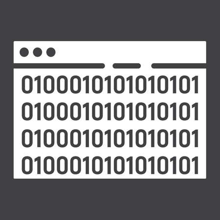 Custom coding glyph icon.