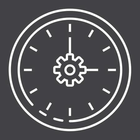 Time management line icon. Illustration