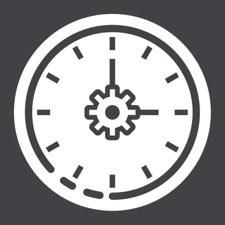 Time management glyph icon.