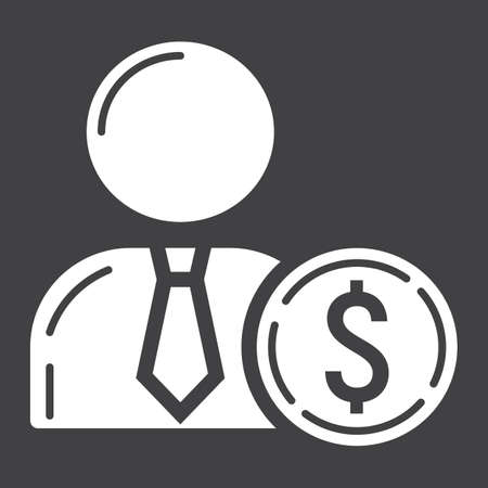 investor: Investor glyph icon, business and finance