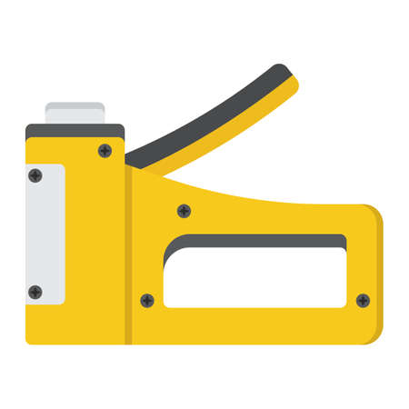 Staple gun flat icon, build and repair, stapler sign vector graphics, a colorful solid pattern on a white background.
