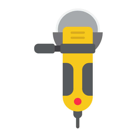 Angle grinder flat icon, build and repair, cutter sign vector graphics, a colorful solid pattern on a white background, eps 10.