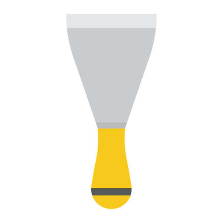 Putty knife flat icon, colorful solid pattern on a white background eps 10.