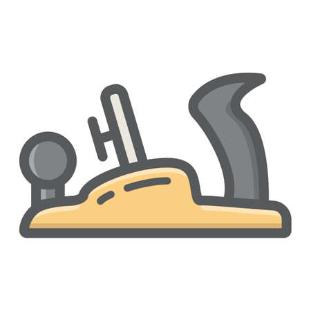 Jack plane filled outline icon, colorful line pattern on a white background eps 10. 일러스트