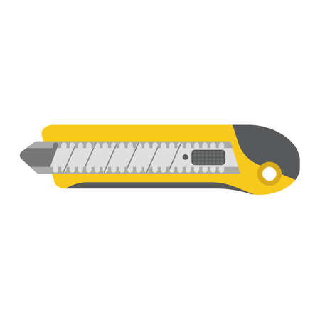 solid: Stationery Knife flat icon, colorful solid pattern on a white background eps 10.