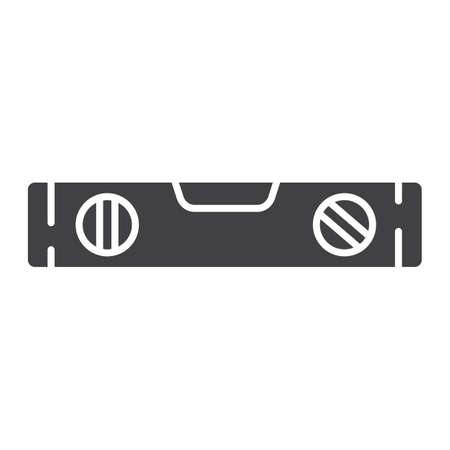 spirit level: Bubble level tool glyph icon, build and repair, level ruler sign vector graphics, a solid pattern on a white background.