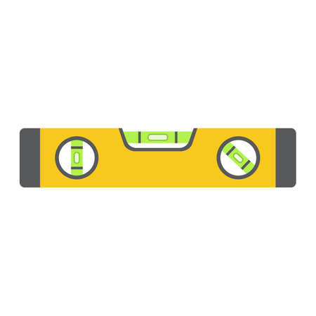 Bubble level tool flat icon, build and repair, level ruler sign vector graphics, a colorful solid pattern on a white background.