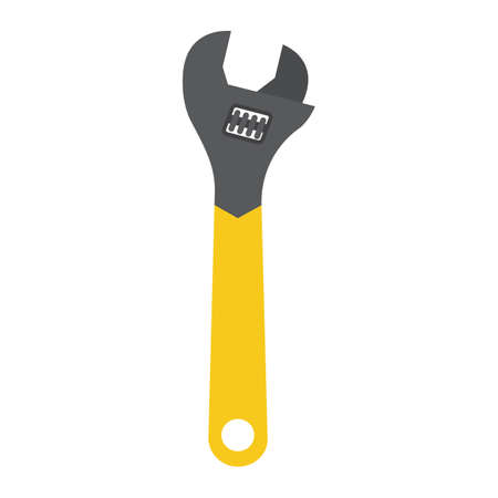 Adjustable wrench flat icon, a colorful solid pattern on a white background eps 10.