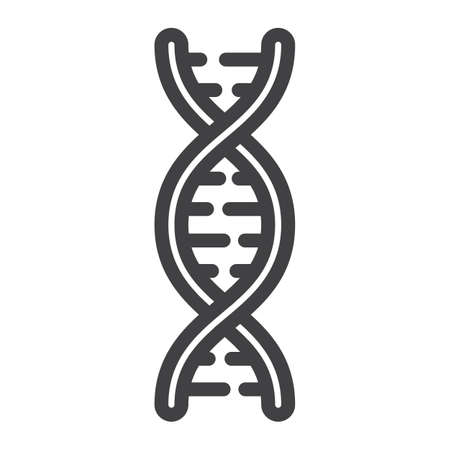 DNA line icon, medicine and healthcare, genetic sign vector graphics, a linear pattern on a white background, eps 10. Illustration
