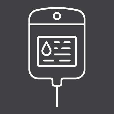 saline: Iv bag line icon
