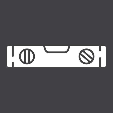 spirit level: Bubble level tool glyph icon, build and repair