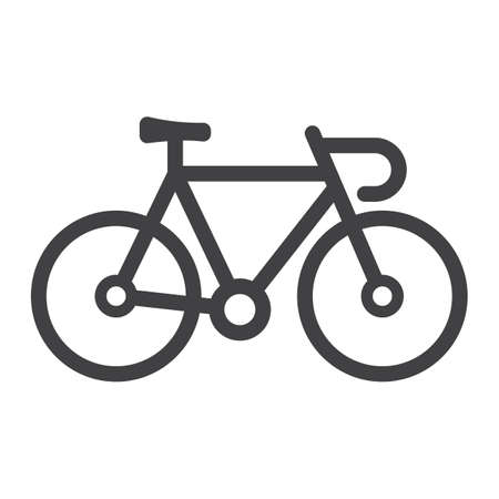 spoke: Bicycle line icon, transport and vehicle, bike sign vector graphics, a linear pattern on a white background, eps 10.