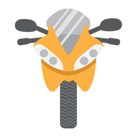 solid: Motorcycle flat icon, transport and vehicle, bike sign vector graphics, a colorful solid pattern on a white background, eps 10. Illustration