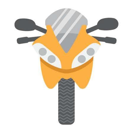 Motorfiets vlak pictogram, vervoer en voertuig, de vectorgrafiek van het fietsteken, een kleurrijk stevig patroon op een witte achtergrond, eps 10. Stock Illustratie