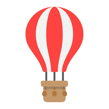 Hot air balloon flat icon, transport and air vehicle, travel sign vector graphics, a colorful solid pattern on a white background, eps 10.