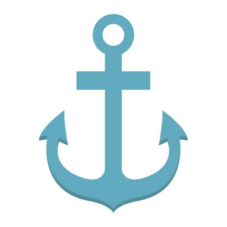Anchor flat icon, navigation and nautical, naval sign vector graphics, a colorful solid pattern on a white background, eps 10. Illustration