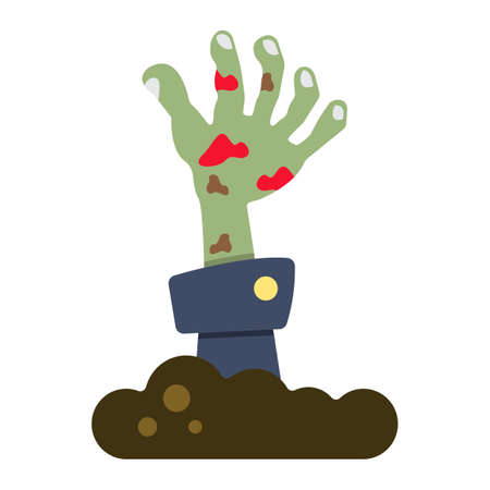 Zombie hand flat icon, halloween and scary, dead sign vector graphics, a colorful solid pattern on a white background, eps 10.