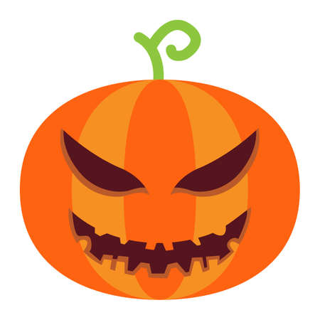 Halloween Pumpkin flat icon, halloween and scary, evil sign vector graphics, a colorful solid pattern on a white background, eps 10.