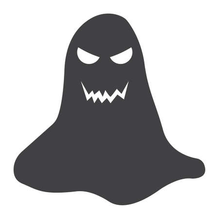 Ghost glyph icon, halloween and scary, horror sign vector graphics, a solid pattern on a white background, eps 10. Ilustracja