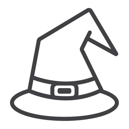 witch hat flat icon halloween and scary wizard hat sign vector