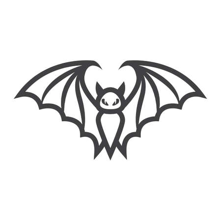 Bat line icon, halloween and scary, animal sign vector graphics, a linear pattern on a white background, eps 10.