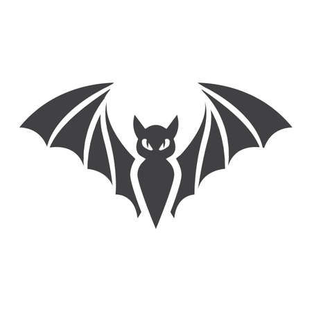 Bat glyph icon, halloween and scary, animal sign vector graphics, a solid pattern on a white background, eps 10.