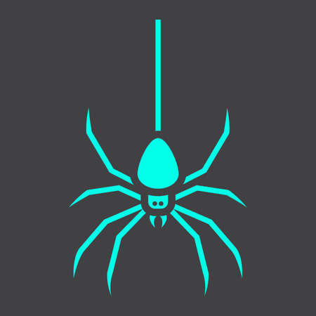 Spider glyph icon, halloween and scary