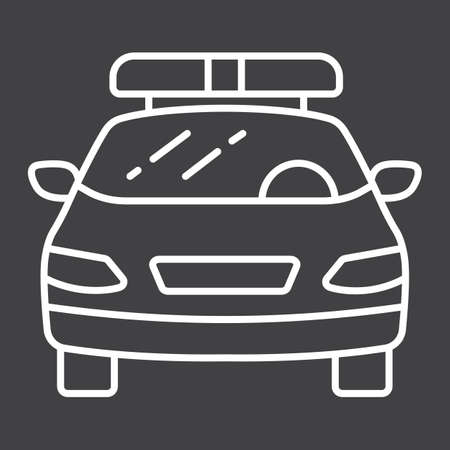 squad: A linear police car icon pattern on a black background.
