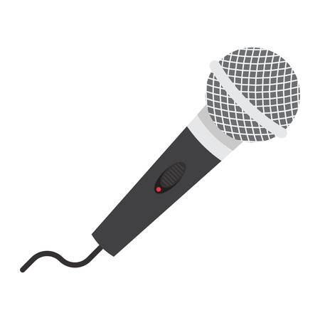 filled: Microphone flat icon, music and instrument, karaoke sign vector graphics, a colorful solid pattern on a white background, eps 10.