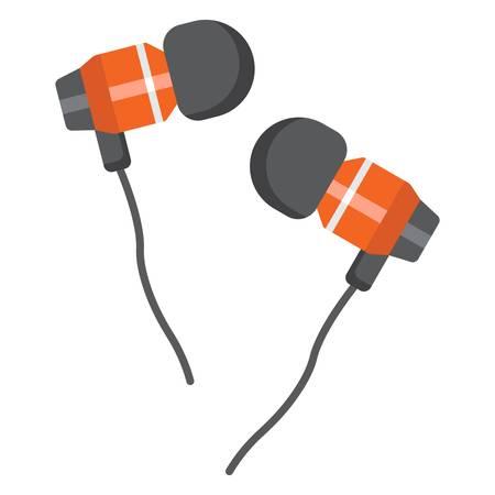 cable telefono: Auriculares icono, clip art ilustración de diseño. Vectores