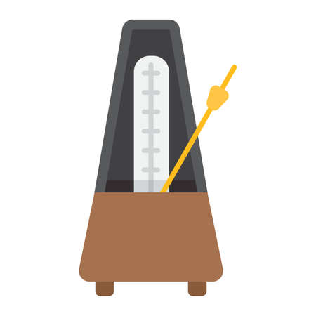 Metronome flat icon, music and instrument, tempo sign vector graphics, a colorful solid pattern on a white background, eps 10.