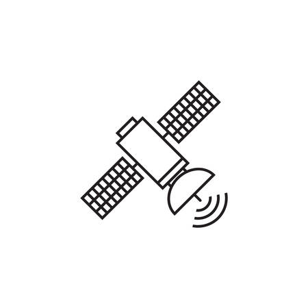 Satellite line icon,  linear pictogram isolated on white Ilustrace