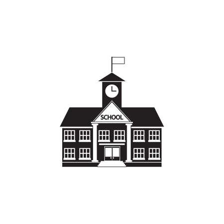 School building icon Vektorové ilustrace
