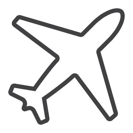 Airplane line icon illustration.