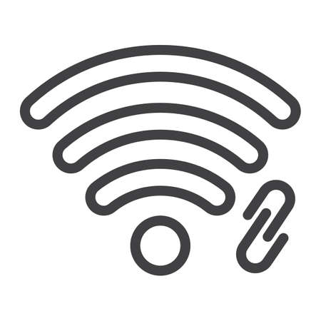 Signal connection line icon illustration.