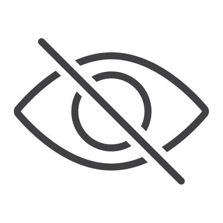 Ne pas espionner l'icône de la ligne, web et mobile, pas de signes graphiques vectoriels de signe, un motif linéaire sur un fond blanc, eps 10. Vecteurs