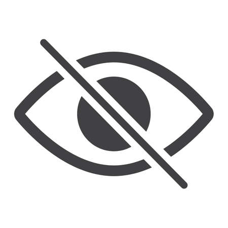 visible: Do not spy glyph icon, web and mobile, not visible sign vector graphics, a solid pattern on a white background, eps 10.