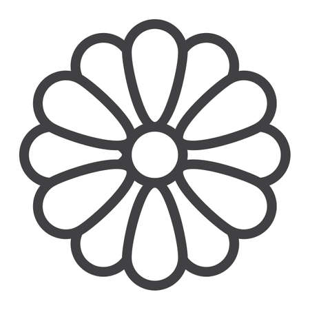 Flower line icon, web and mobile, wallpaper sign vector graphics, a linear pattern on a white background, eps 10.