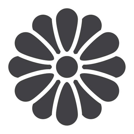 Flower glyph icon, web and mobile, wallpaper sign vector graphics, a solid pattern on a white background, eps 10.