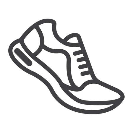 Running shoes line icon, fitness and sport, gym sign vector graphics, a linear pattern on a white background, eps 10.