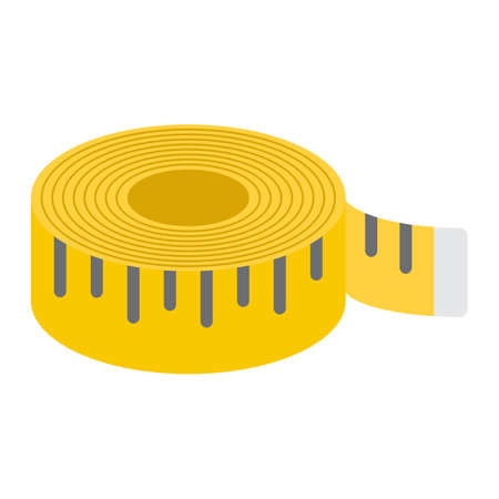 Measure tape flat icon, fitness and sport, fitness ruler sign vector graphics, a colorful solid pattern on a white background, eps 10.
