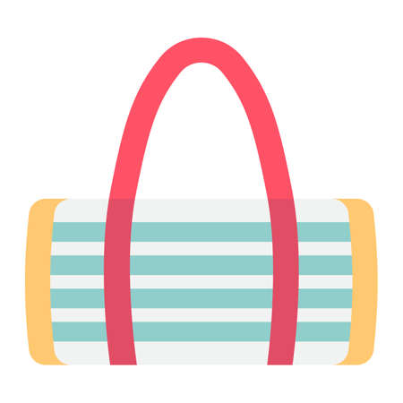 Fitness bag flat icon, fitness and sport, sport bag sign vector graphics, a colroful solid pattern on a white background, eps 10.