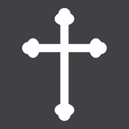 Religion cross glyph icon, easter and holiday, christian sign vector graphics, a solid pattern on a black background, eps 10.