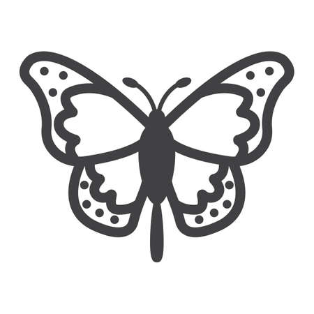 Butterfly line icon, easter and holiday, insect sign vector graphics, a linear pattern on a white background, eps 10. 矢量图像